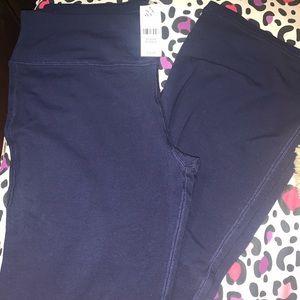 NWT.  Ny and company navy blue boot cut yoga pants